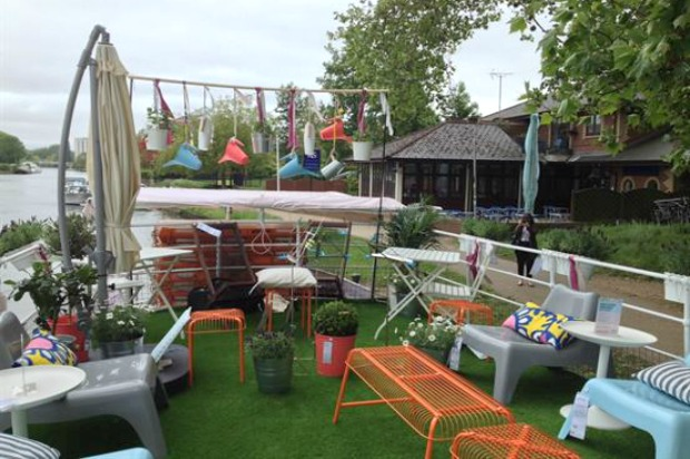 The houseboat will be travelling along the river all month