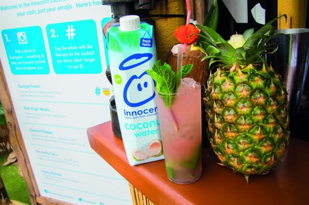 Innocent opened an emoji-fuelled Coconut Watering Hole this summer