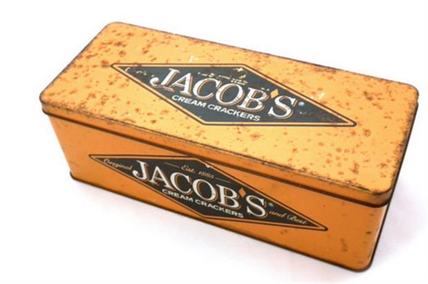 The activity marks the 130th birthday of Jacob's cream cracker product (@JacobsSnacks)