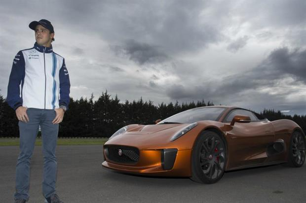 Felipe Masa drove the exact C-X75 that featured in Spectre around a race track in Mexico City