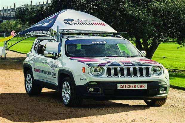The Jeep 'catcher car' which will be used during the event