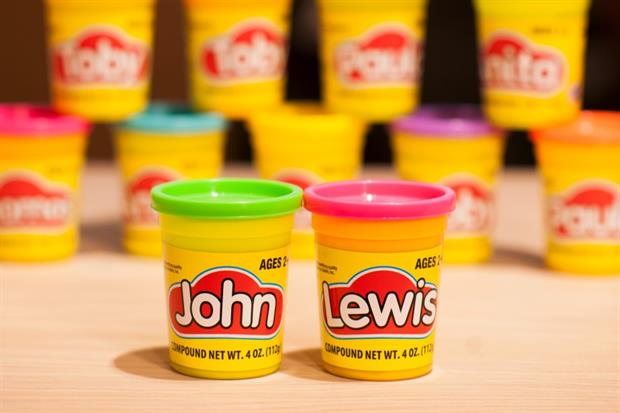 Play-Doh launched personalised tubs at John Lewis