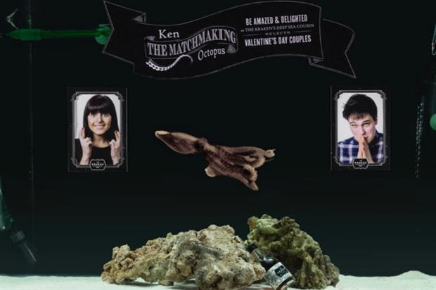 The Kraken Rum uses Ken the octopus as an alternative to Tinder