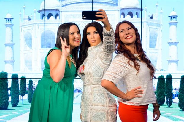 Fans can take real-life selfies with the wax figure of Kim Kardashian