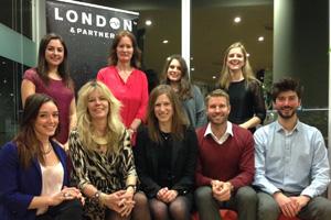 The London & Partners convention bureau team at last night's event