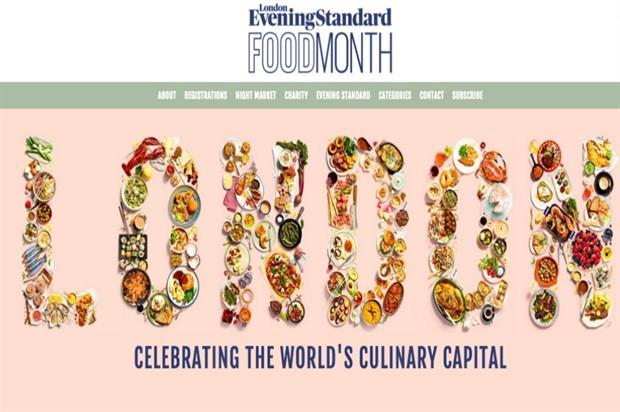 London's Evening Standard announces food month