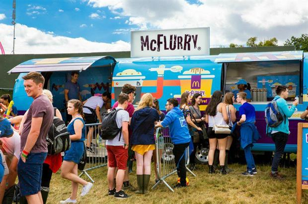 McDonald's: one of several activations at this year's V Festival