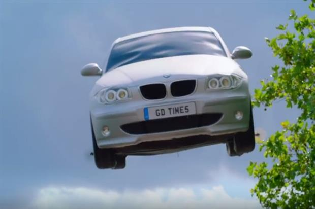The stunt formed part of McDonald's Good Times campaign