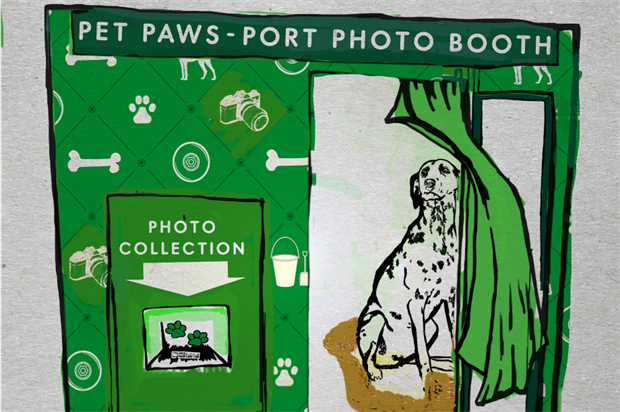 More Than launch Pet Paws-Port photo booth
