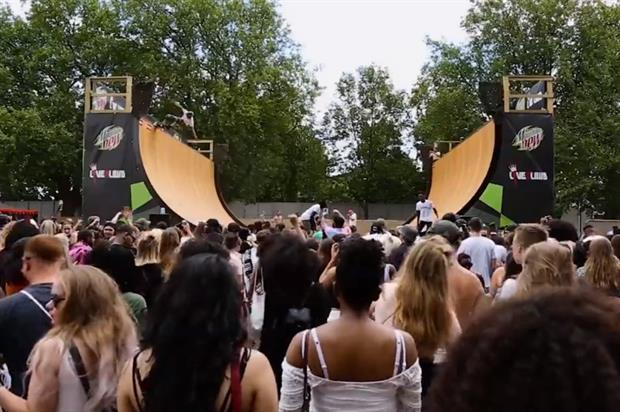 The festival tour features Europe's largest portable vert ramp