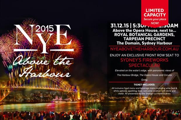 The ticket offering, according to the NYE Above the Harbour website (nyeabovetheharbour.com.au)