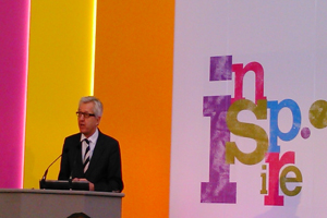 Nick de Bois speaking at Confex: more needs to be done around apprenticeships