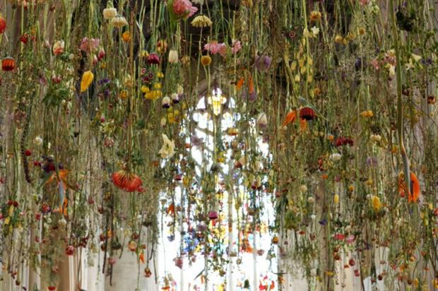 1,200 blooms have been suspended at St Christopher's Place this week.
