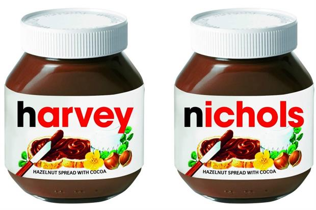 Nutella stages pop-up at Harvey Nichols