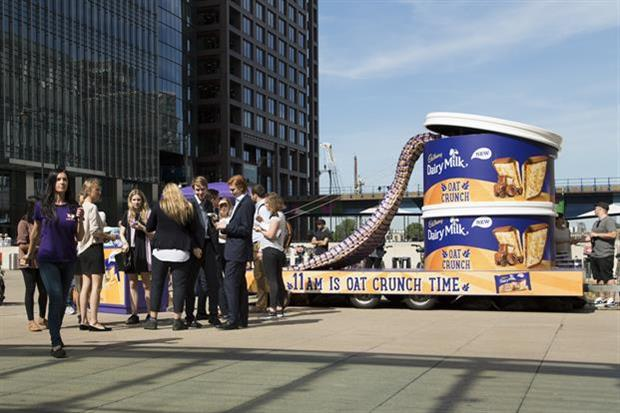 The tour was designed to promote Cadbury's new Dairy Milk Oat Crunch biscuit