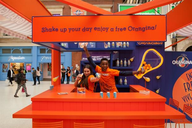 Orangina to stage experiential and sampling activity