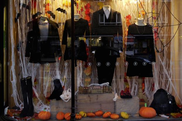 Oxfam: Halloween-themed pop-up