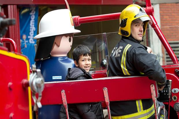 The first Playmobil event with London Fire Brigade took place in Soho