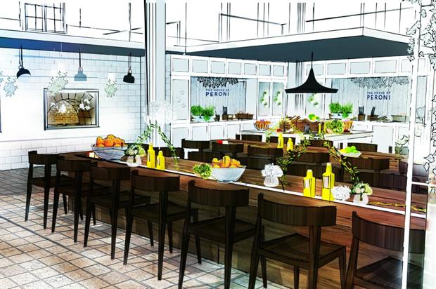 The House of Peroni will include a large kitchen space with shared dining tables