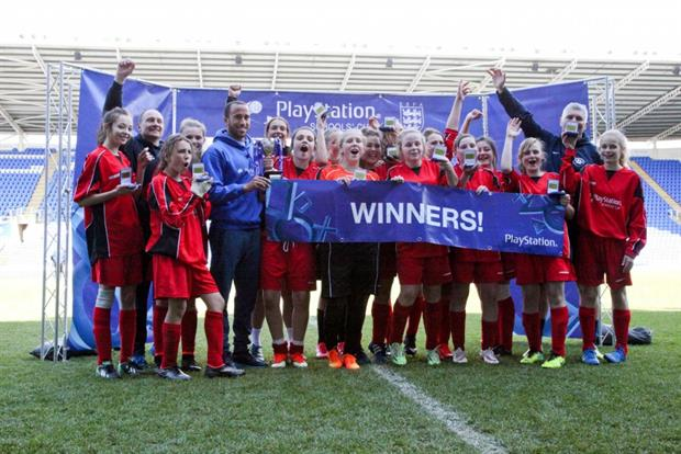 PlayStation: the winning team from a previous Schools' Cup tournament