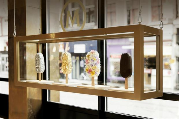 The pop-up marks the launch of Magnum's new Double range