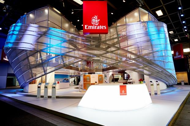 The stand offers a VR experience, as well as meeting, hospitality and VIP areas