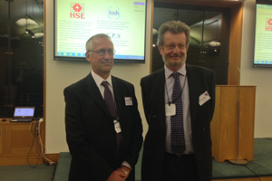 EIF's Graham Lake-Grange and Jim Winship at Purple Guide launch