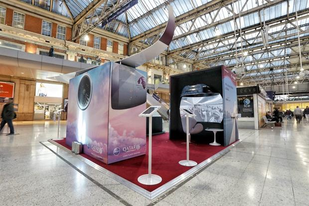 Qatar Airways stage VR experience in London Waterloo station