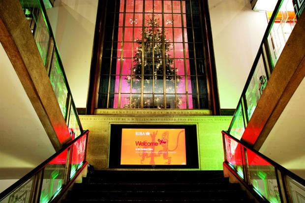 RIBA's venue is located at 66 Portland Place