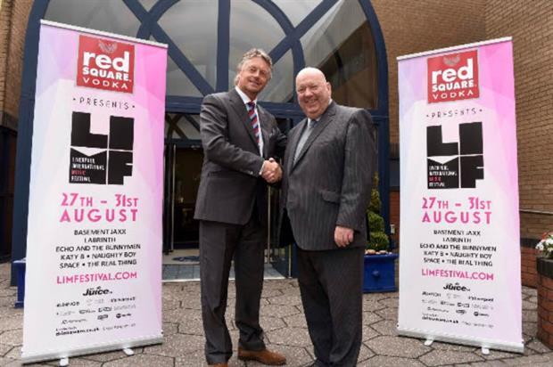Peter Eaton, senior deputy chairman of Halewood International with Joe Anderson, Mayor of Liverpool