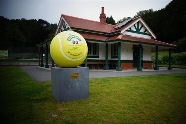 The first tennis ball was located in Swansea (@DrinkRobinsons)