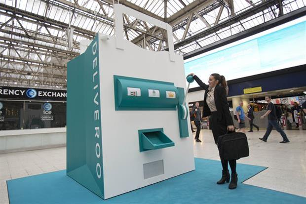 The RooMachine was placed within London's Waterloo train station