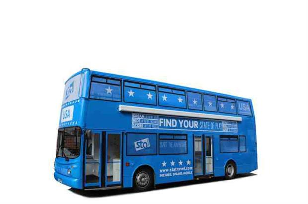 The STA Travel bus will tour the UK until the end of July