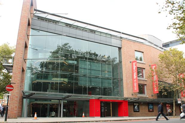 Sadler's Wells Theatre: nearing completion of £7m refurb