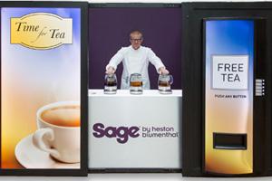 Sage by Heston Blumenthal's 'free tea' vending machine