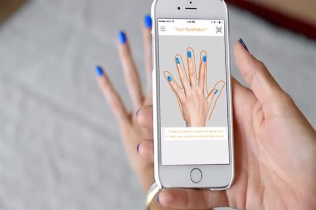 The app allows consumers to virtually try on different nail colours (youtube.com/user/SallyHansenTV)