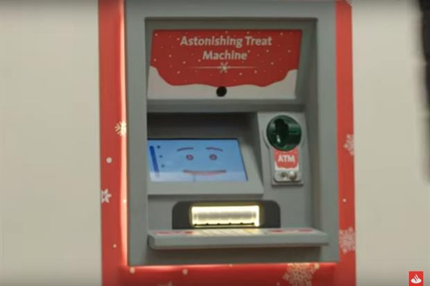 The Astonishing Treat Machine dispensed Christmas gifts and cash