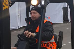 One of the Showforce/Sochi 2014 team members