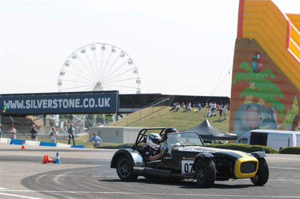 Visitors will have the chance to be taken around the famous Silverstone track in Caterham Sevens