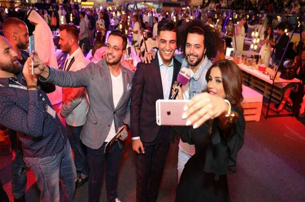 Snapchat's first ever 'party gathering' in the Middle East, held at Dubai Mall (photo: Platinum Records)