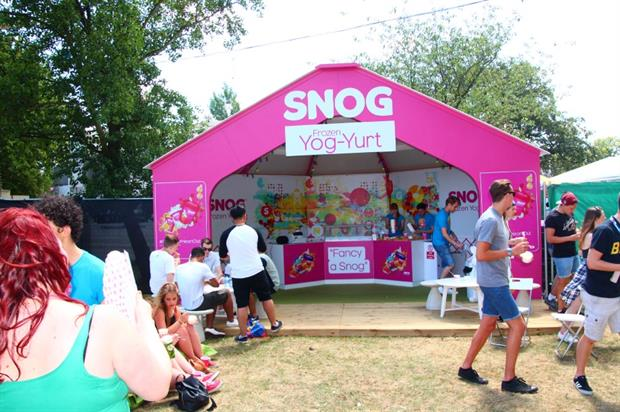 Snog teamed up with ID Experiential to tour a series of music festivals across the UK