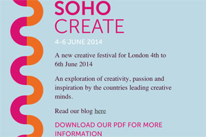 SohoCreate, a new festival taking place in June