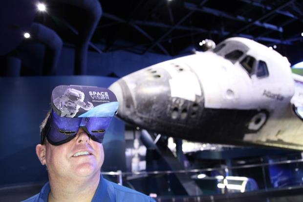 VR experience at Kennedy Space Center Visitor Complex