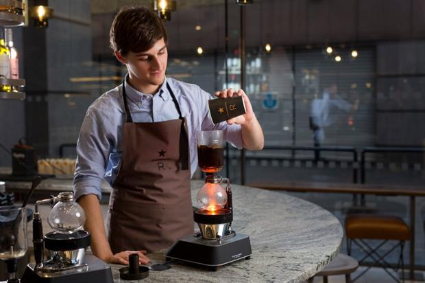 Starbucks' new store enables customers to watch on as their coffees are prepared