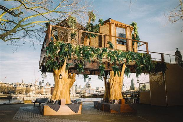 The treehouse was inspired by a Virgin Holidays Wonderlust trip to South Africa