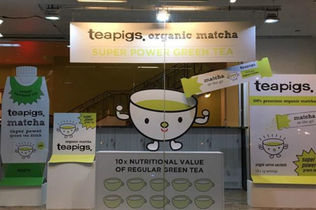 Teapigs: interactive window and yoga sessions