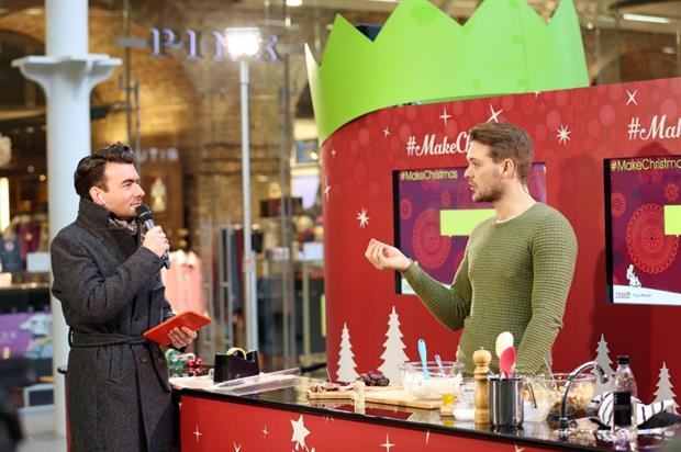 Whaite cooks up Christmas treats in St Pancras