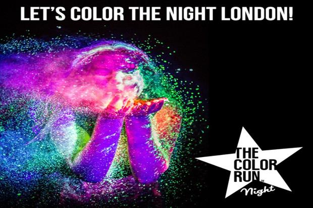 The Color Run Night will take place in London on 5 September