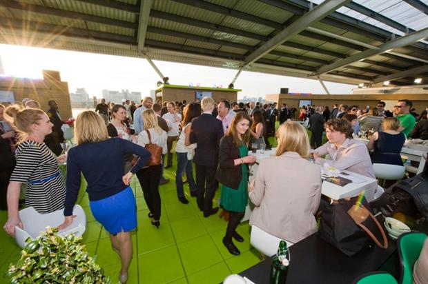 Event spaces at The Kia Oval include the Corinthian Roof Terrace
