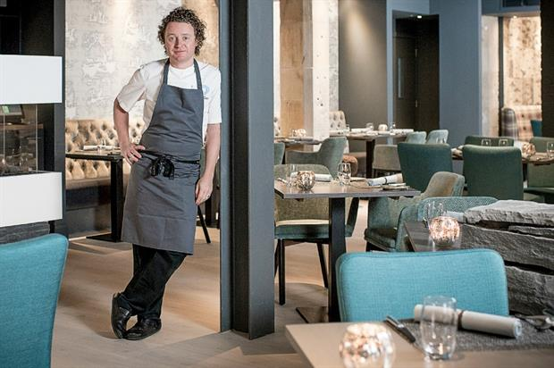 Three new private dining venues in Edinburgh: Tom Kitchin inside his restaurant, The Kitchin